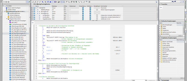 Screenshot aus dem Siemens TIA Portal