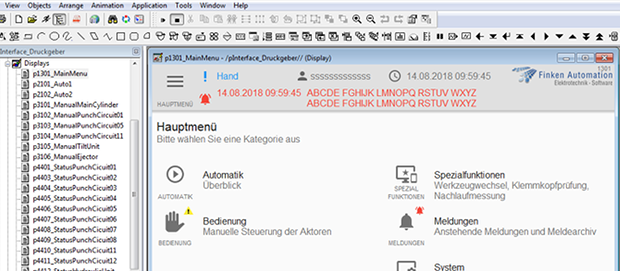 Screenshot aus FactoryTalk View
