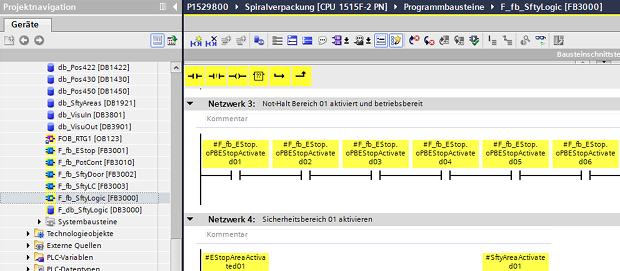 Screenshot aus einem beispielhaften Sicherheitsprogramm